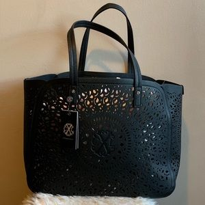 Christian Lecroix Perforated Tote Black